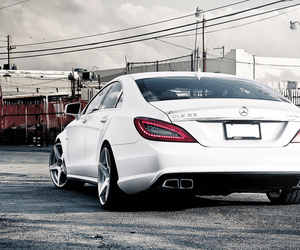 benz, car, and white image