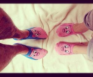 couple, pig, and pink image