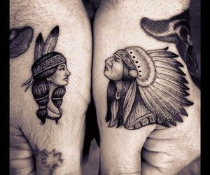 hands, native, and tatttoo image