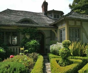 cottage, fairy tale, and house image