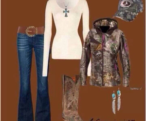 girl, camo, and clothes image