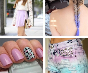 dye, fashion, and nails image