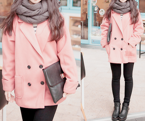 fashion, pink, and coat image