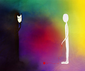 colorful, friend, and mystery image