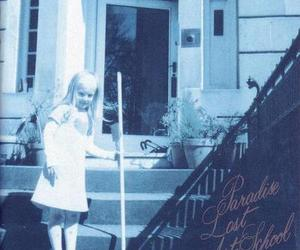 blonde, broomstick, and house image