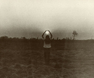 field, vintage, and girl image