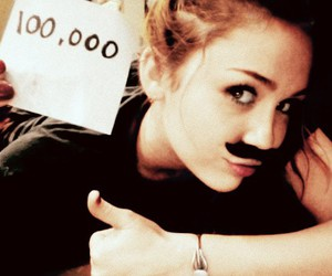 miley cyrus and mustache image