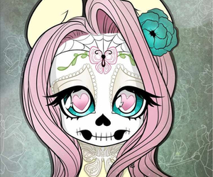 skull, my little pony, and MLP image