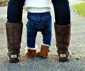baby, ugg, and family image