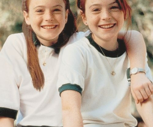 childhood, lohan, and twins image