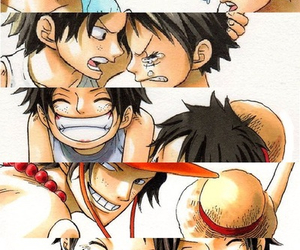 brothers, one piece, and portgas d ace image