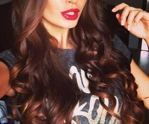 hair, girl, and lips image