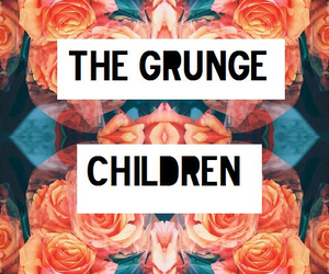 grunge, child, and flowers image