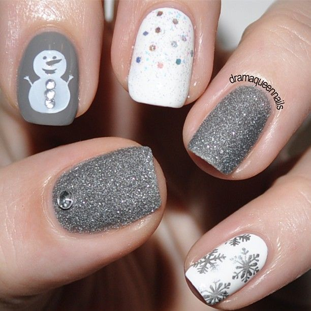Instagram photo by dramaqueennails - Winter     | Nail