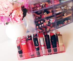 lipstick, makeup, and girly image