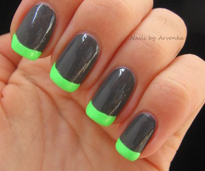 black, green, and manicure image