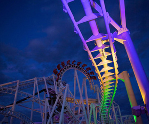 photography, Roller Coaster, and light image