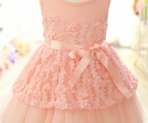 bow, children, and pink dress image