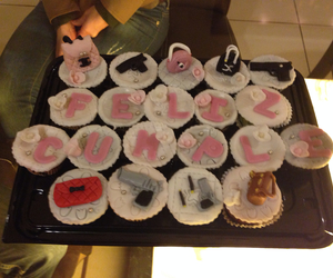 cup cakes, happy, and happy birthday image