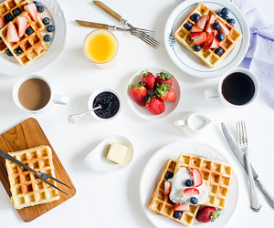 breakfast, fruit, and coffee image