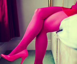 legs, pink, and shoes image