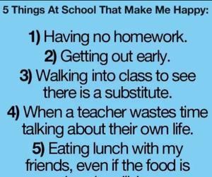 food, homework, and teacher image