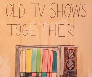 tv, quotes, and old image
