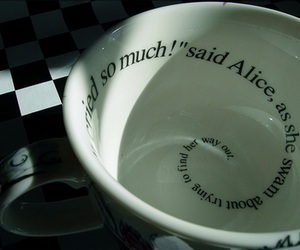 alice in wonderland, bowl, and cup image