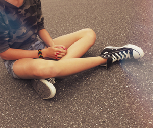 converse and girl image