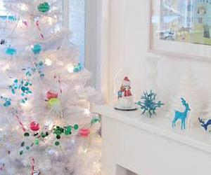 blue, christmas, and color image