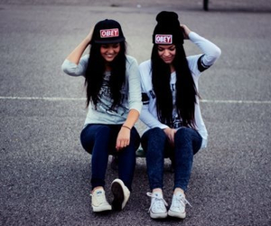 black hair, fun, and obey image