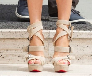 high heels, red, and shoes image