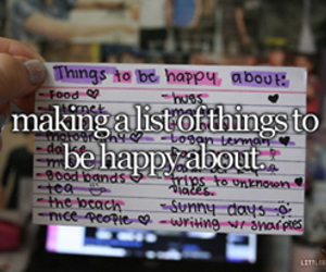 happy, list, and little reasons to smile image