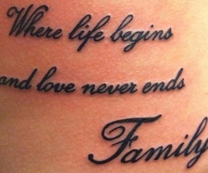 <3, tattoo, and family image