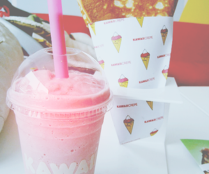 food, pink, and kawaii image