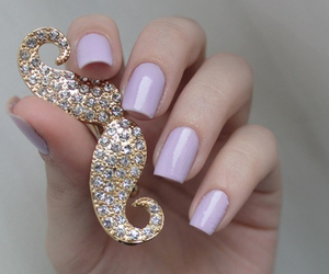 nails, mustache, and purple image