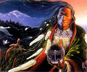 feather, indians, and nature image