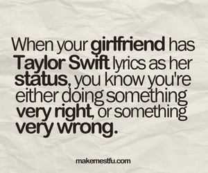 Taylor Swift, girlfriend, and Lyrics image