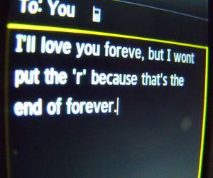 love, forever, and text image