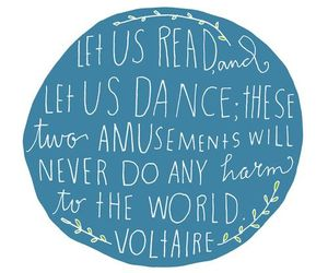 dance, quote, and read image