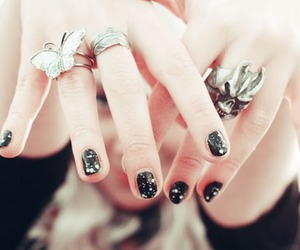 rings, black, and fashion image