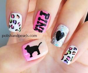 nails, pink, and dog image