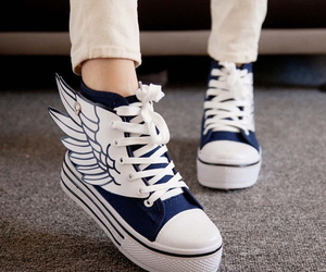 shoes, angel, and converse image