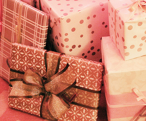 gift, pink, and love image