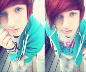 red hair, blue eyes, and boy image
