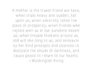 mother, quote, and washington irving image