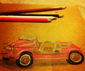 car, painting, and art image