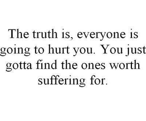 quote, text, and hurt image