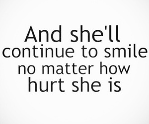 hurt, smile, and quotes image