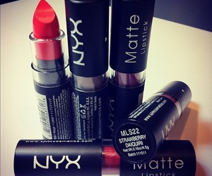 lipstick, red, and NYX image